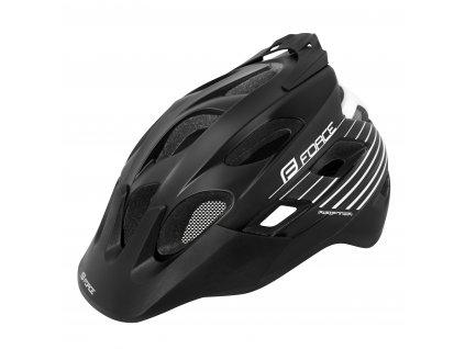 Cyklistická helma Force RAPTOR MTB černo-bílá