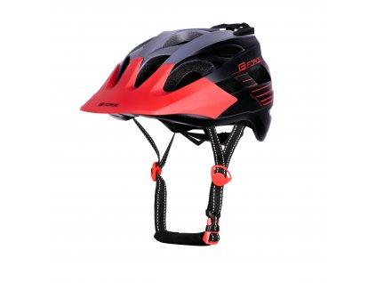 Cyklistická helma Force RAPTOR MTB šedo-červená