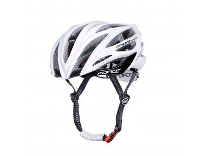 Cyklistická přilba Force ARIES karbon, bílá