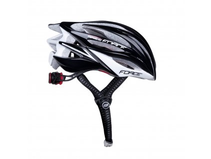 Cyklistická přilba Force ARIES karbon, černo-šedá
