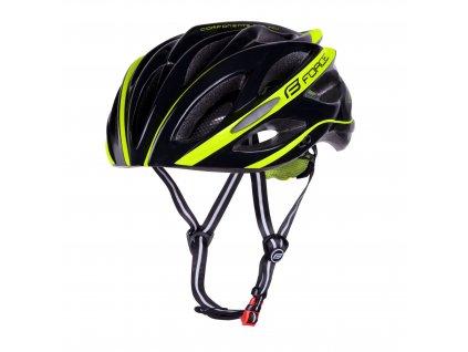 Cyklistická přilba Force BULL, černo-fluo