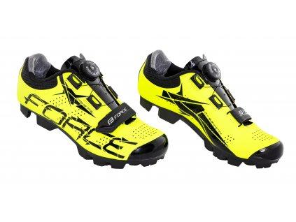 Cyklistické MTB tretry Force CRYSTAL, fluo
