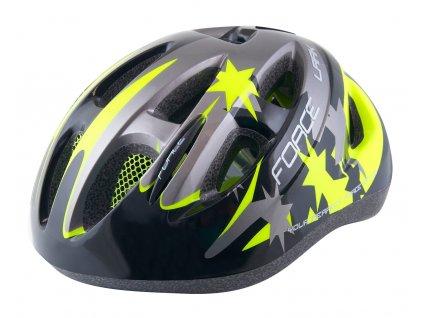 Dětská cyklistická helma Force ARK, černo-fluo