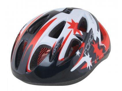 Dětská cyklistická helma Force ARK, černo-červeno-bílá