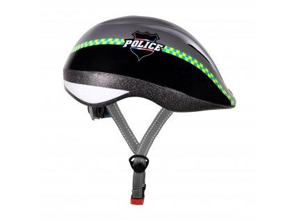 Dětská cyklistická helma Force FUN POLICE, černo-stříbrná