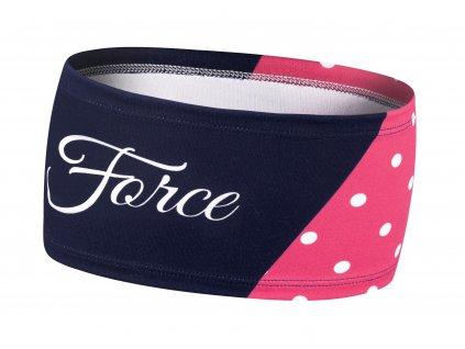Čelenka Force FIT POINTS sport zúžená, růž-mod UNI