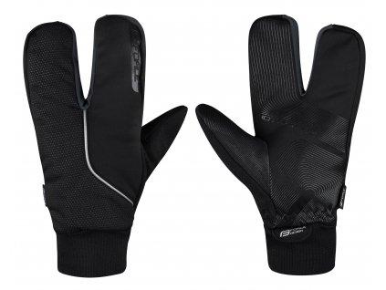 Rukavice zimní Force HOT RAK PRO 3 prsté, černé