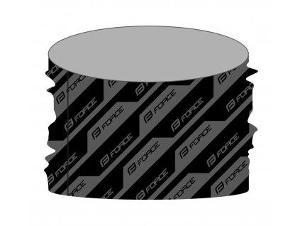 Šátek Force STEP zimní, černo-šedý UNI