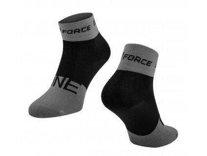 Ponožky Force ONE, šedo-černé