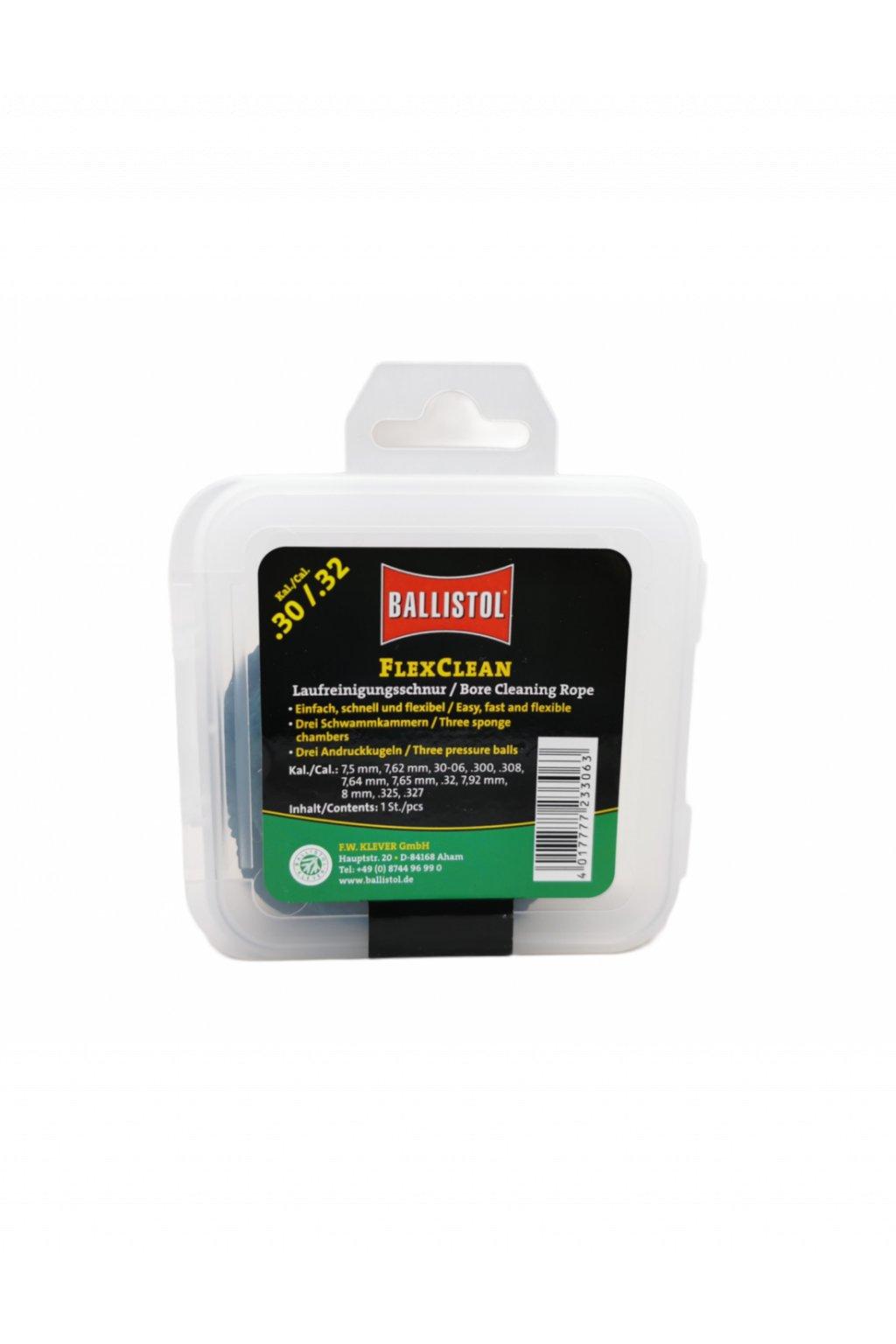 ballistol flex clean scovolo in cordura intrecciata cal 30 32