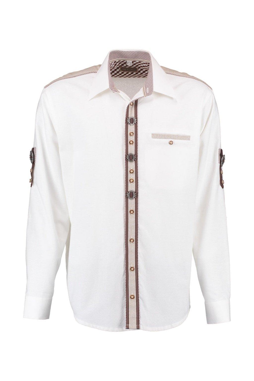 ORBIS - bílá pánská košile Reg.Fit, zkr. rukáv 1011
