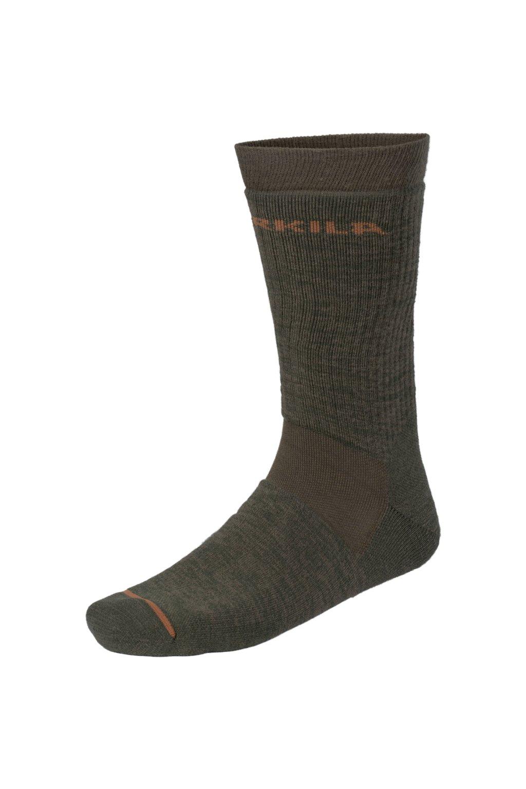HÄRKILA - Pro Hunter II. ponožky krátké (willow green/shadow brown)