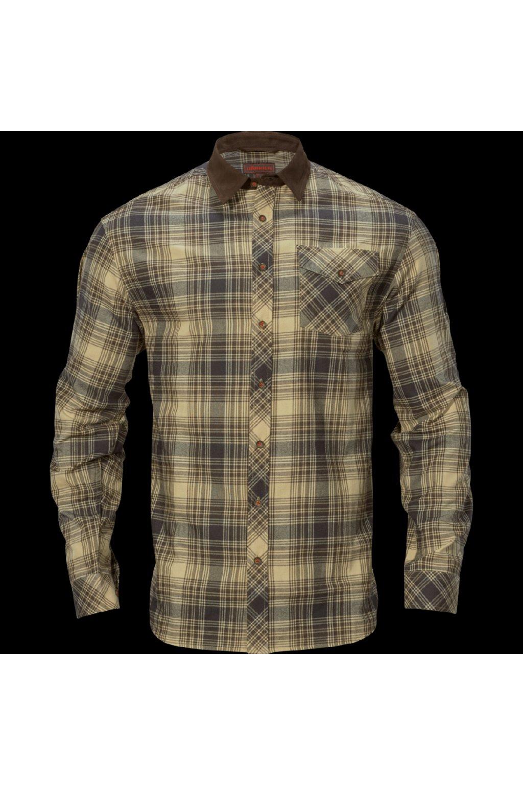 HÄRKILA  - Driven Hunt flannel košile Light teak check