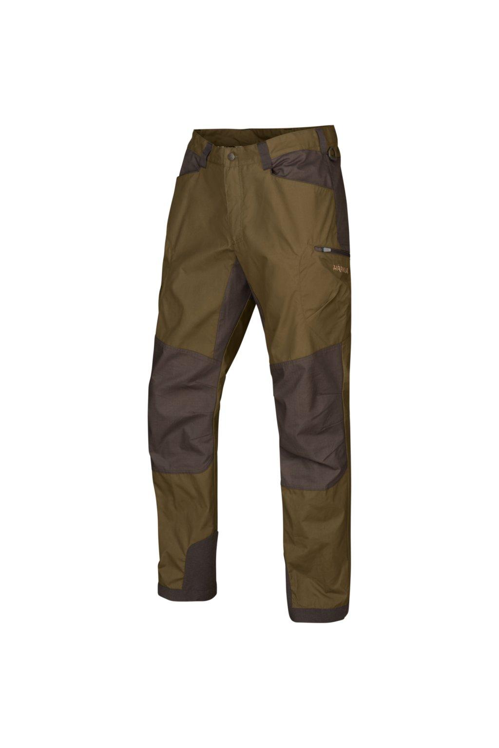 HÄRKILA - Hermod kalhoty pánské  Dark olive/Willow green
