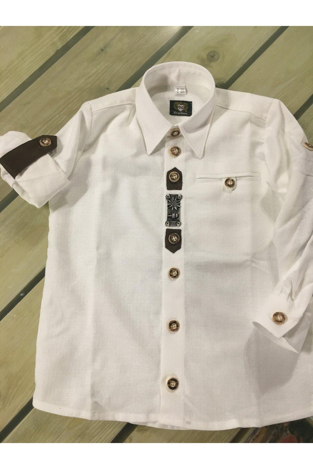 Košile chlapecká bílá zdob.