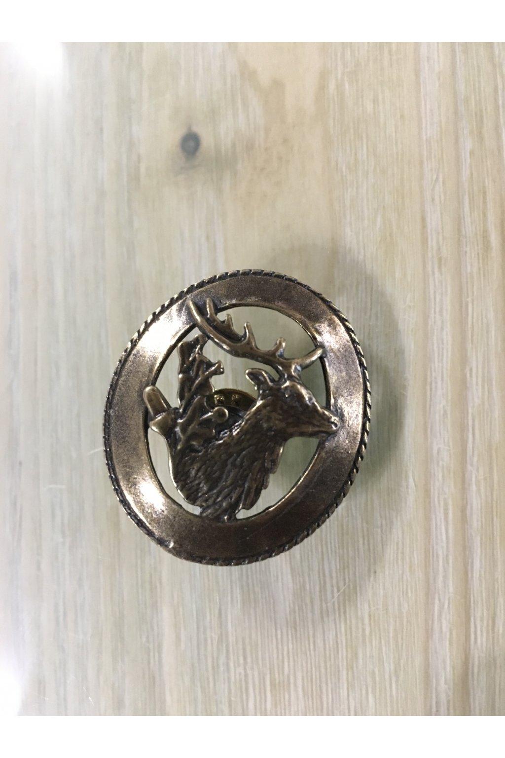 Odznak - jelen kruh zlatý
