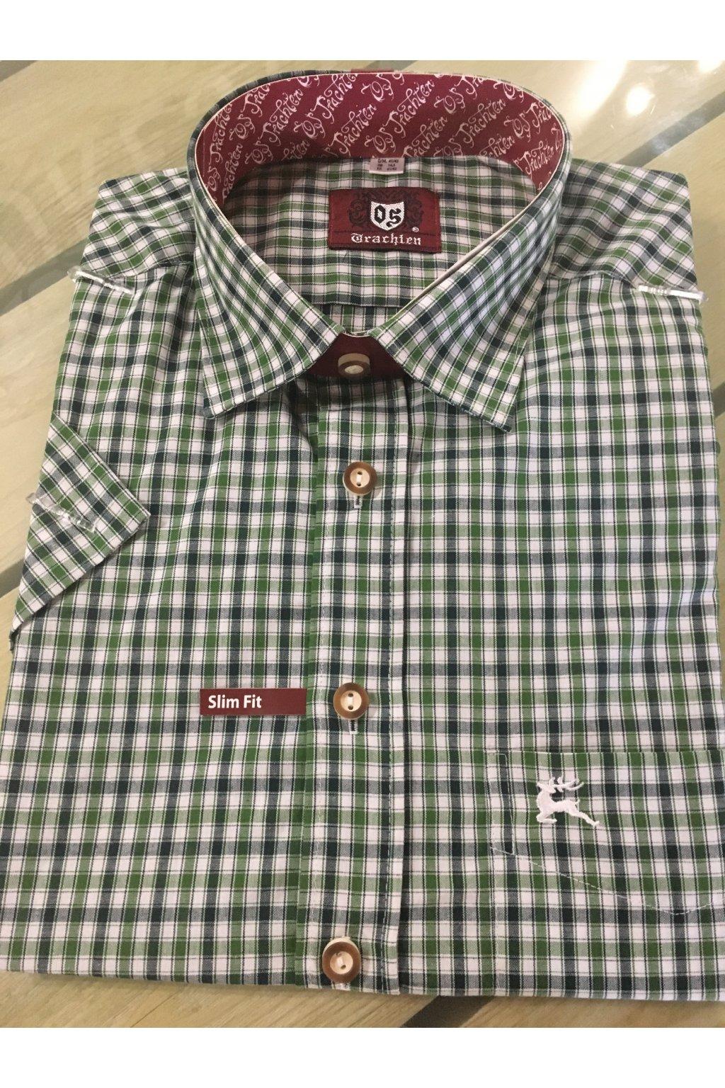 Košile pánská Slim Fit kr.rukáv