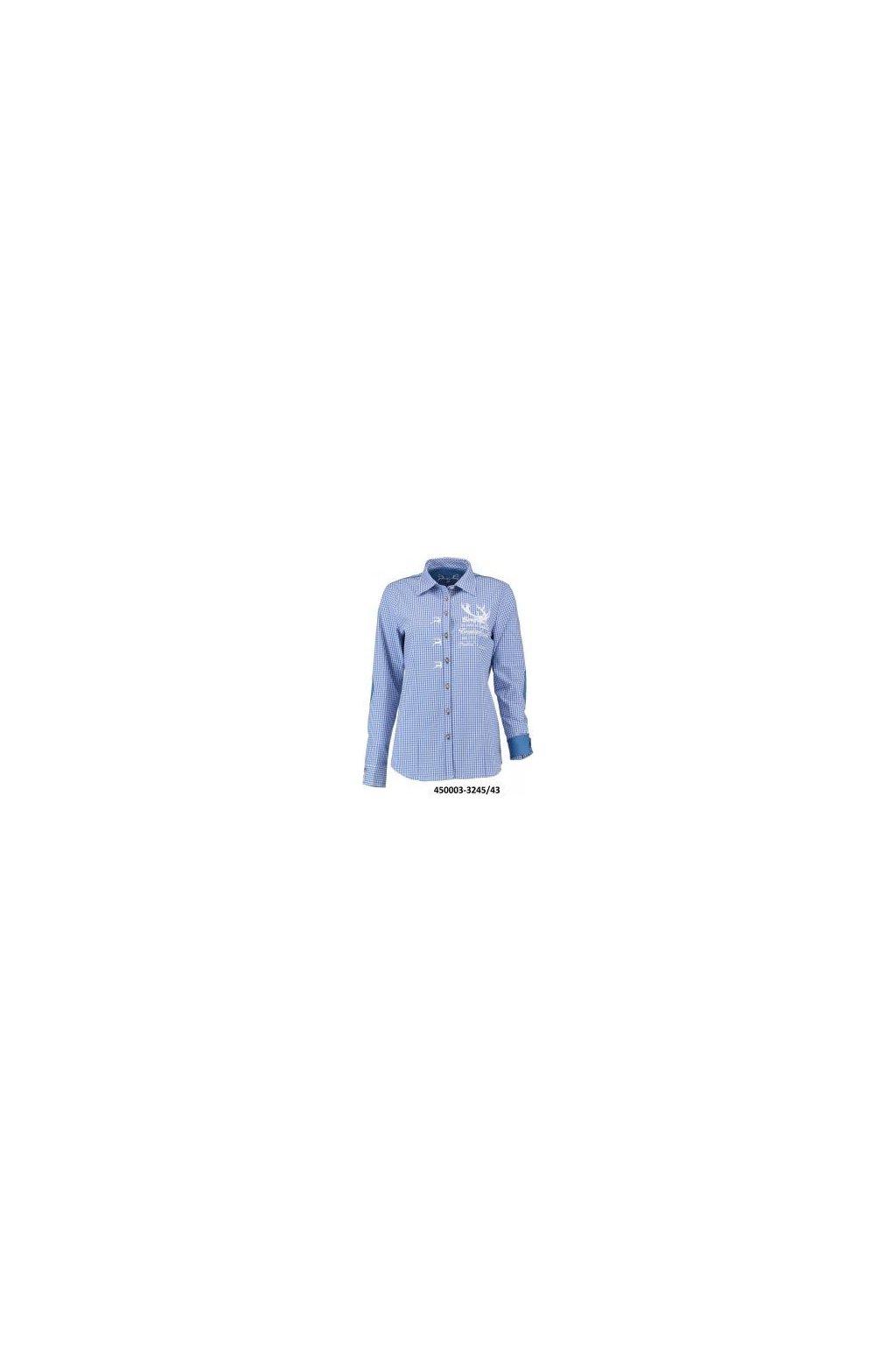 Myslivecká košile dámská modrá