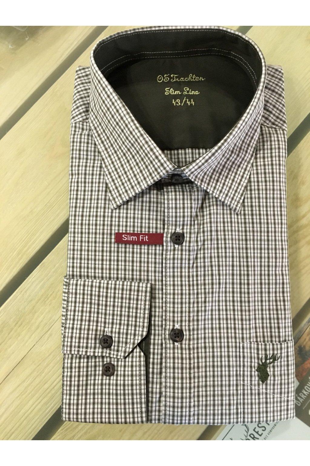 Košile pánská Slim Fit dlouhý rukáv (3522)