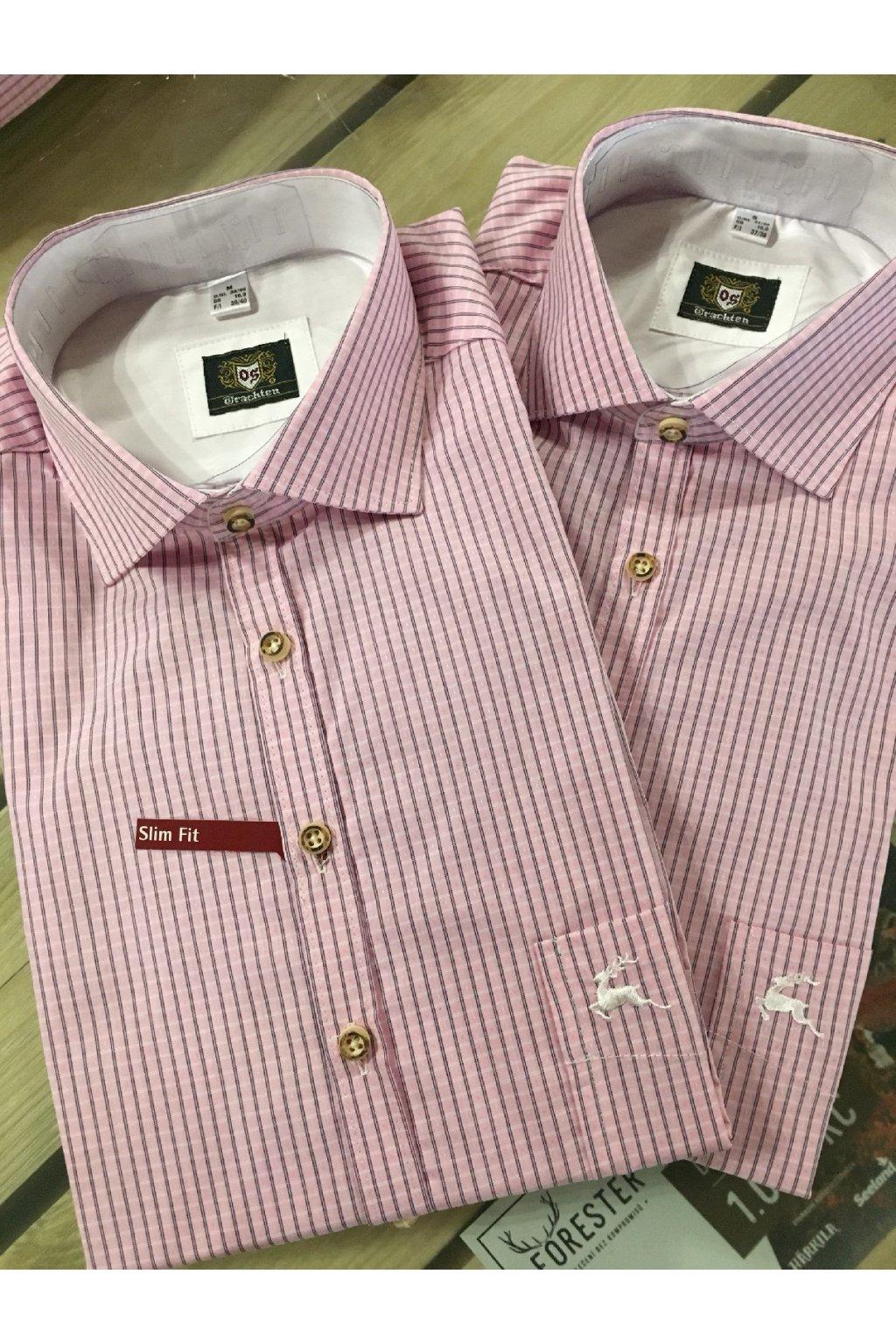 Myslivecká košile pánská - růžová
