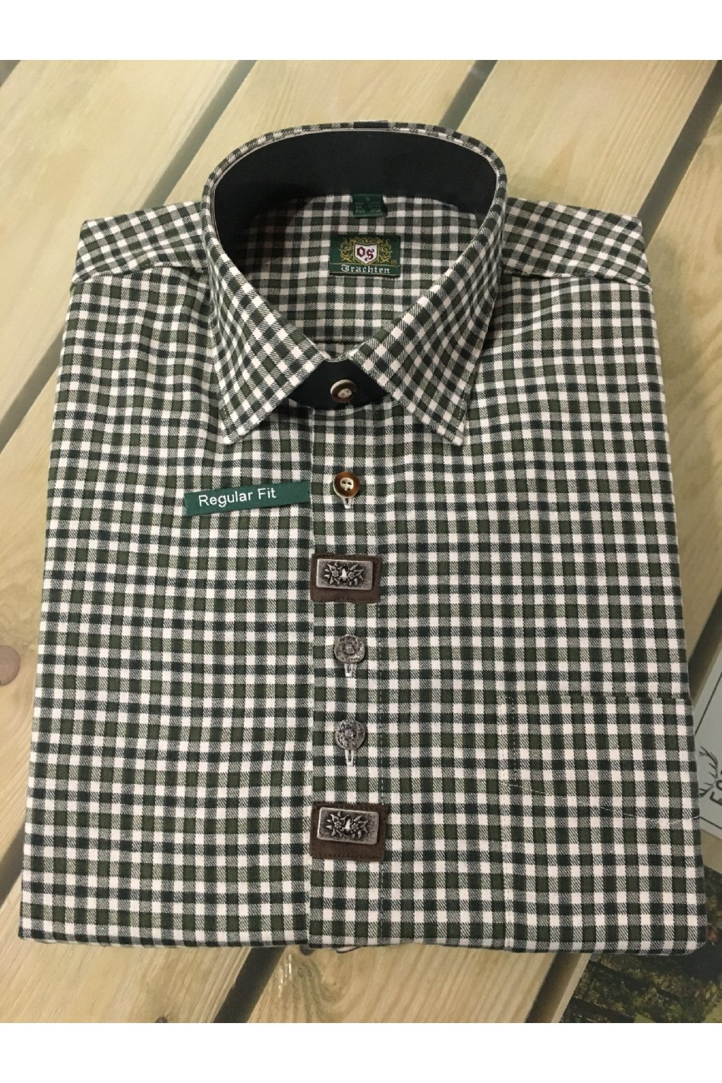 ORBIS - Pánská košile FLANEL - jemné zdobení