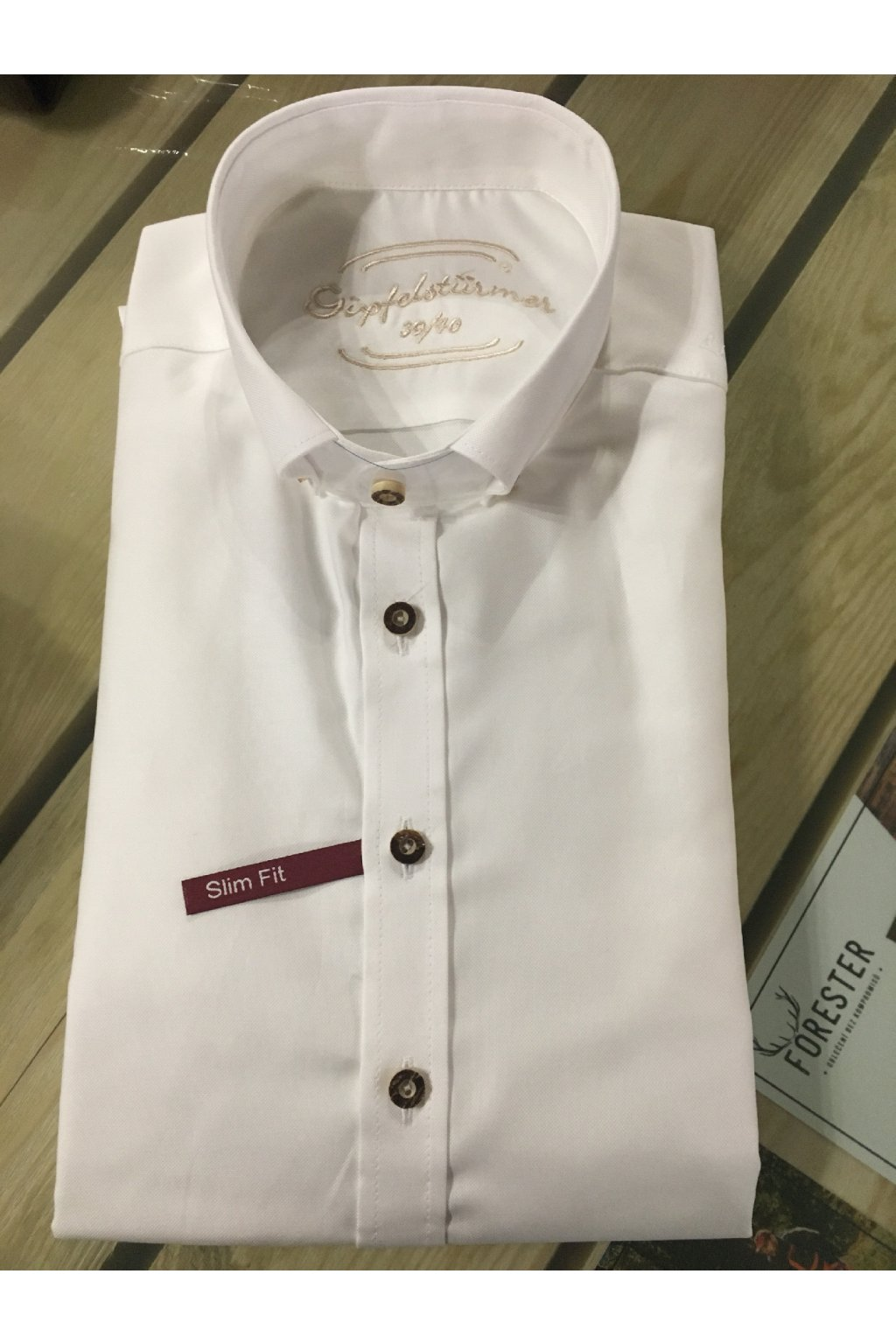 Košile pánská bílá - límeček - Slim Fit
