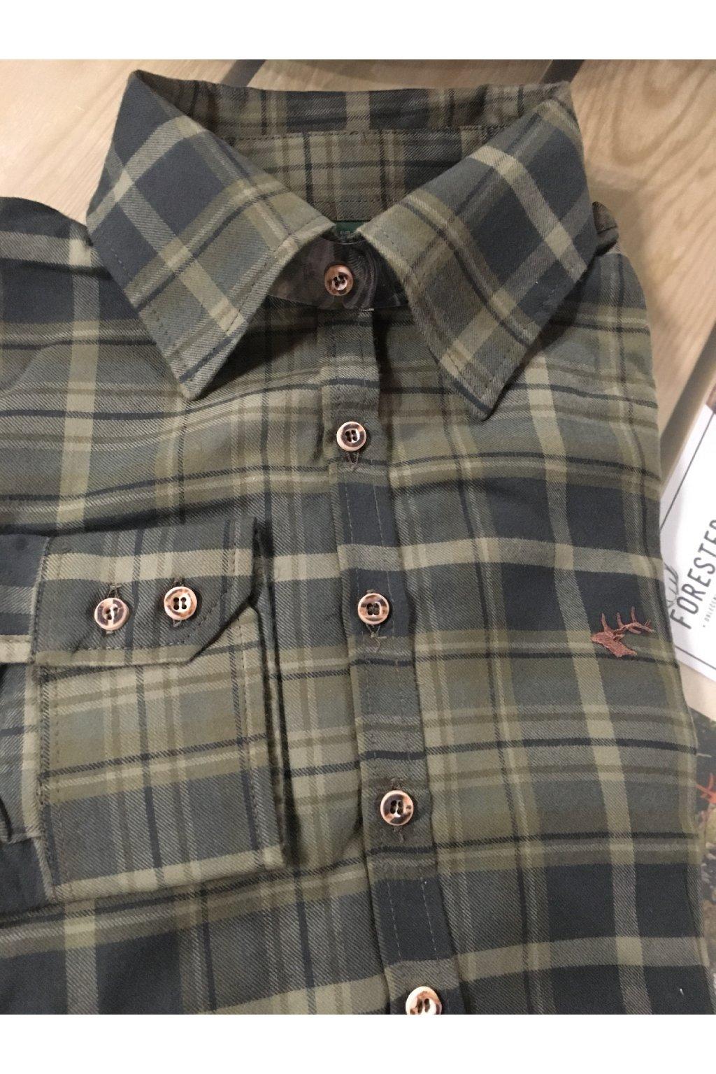 Dámská košile - flanel tm.zelená (3298)