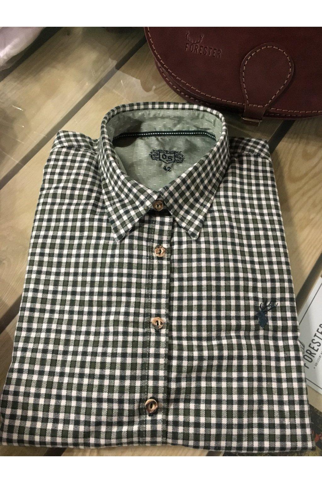 Dámská košile - flanel bílo-zelená (3638)