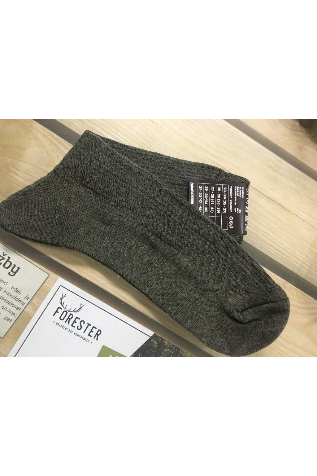 Ponožky zelené letní