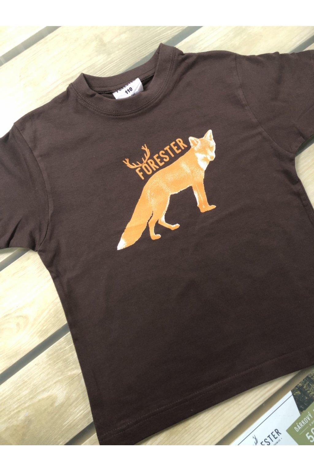 FORESTER - tričko dětské hn. liška