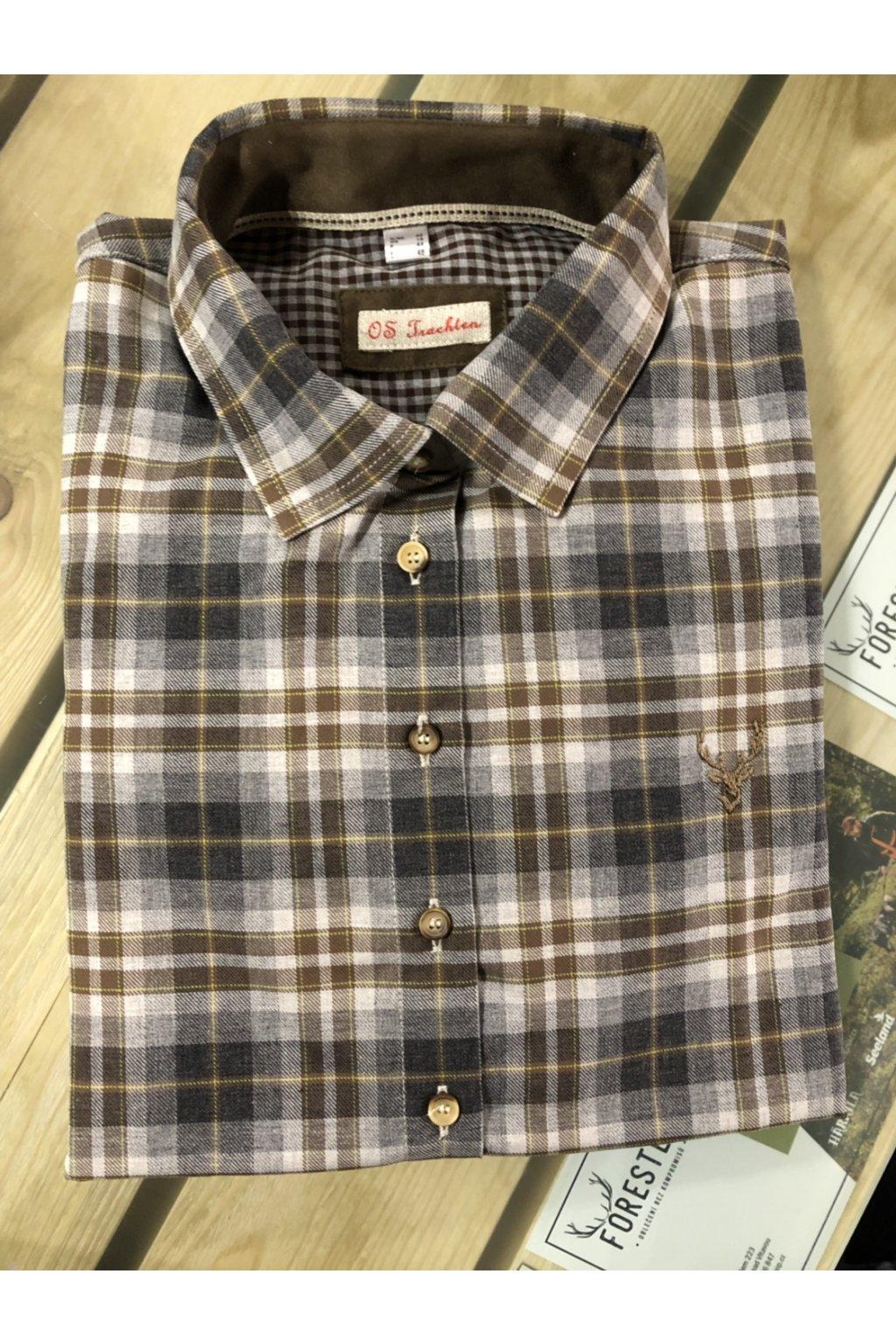 Orbis - košile dámská dl.rukáv hnědá (3557)