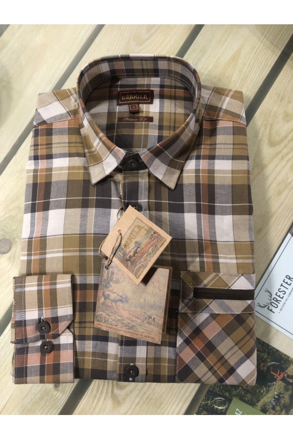 HÄRKILA - Newton košile pánská Tapenade check