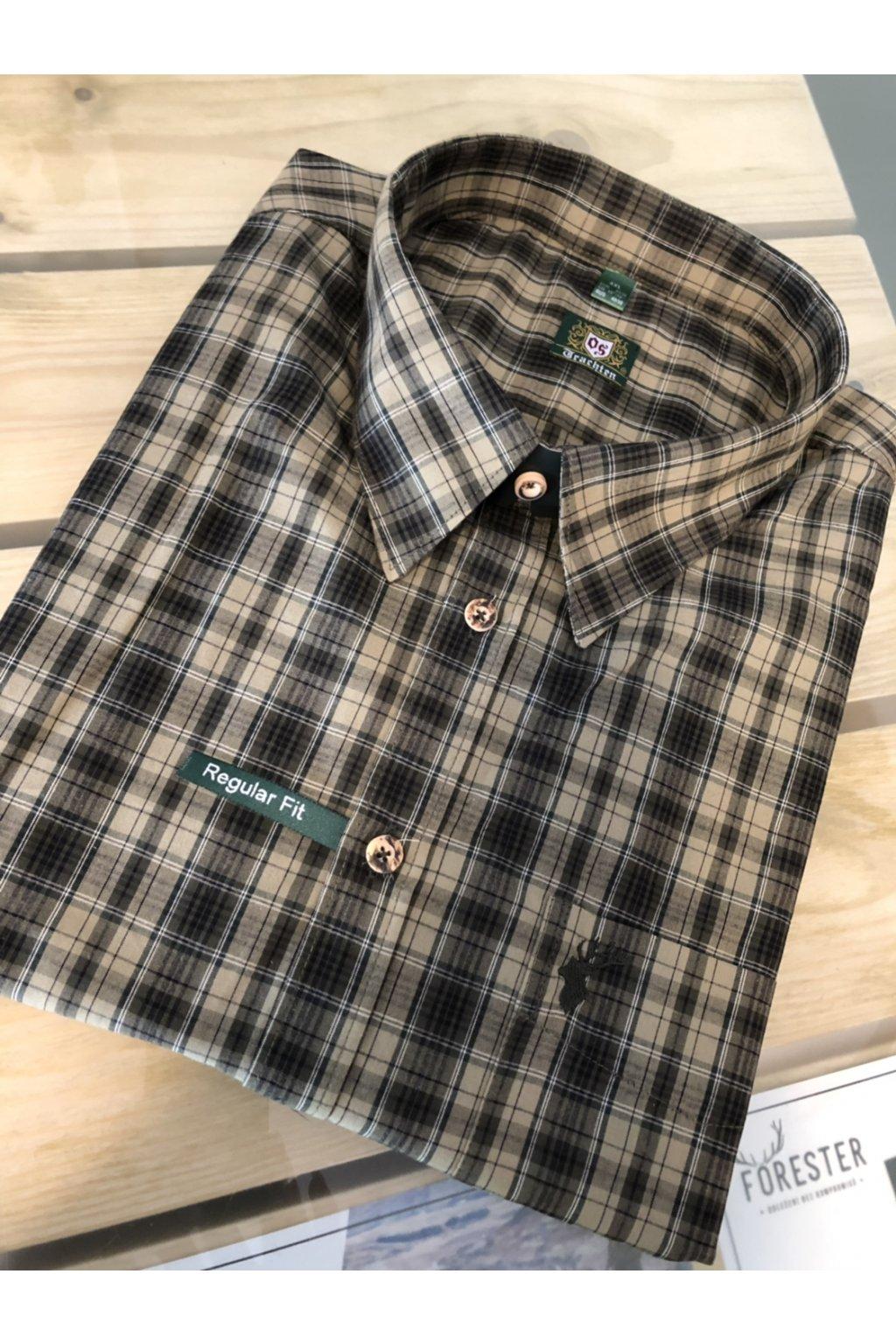 Košile pánská letní - dlouhý rukáv, zelená