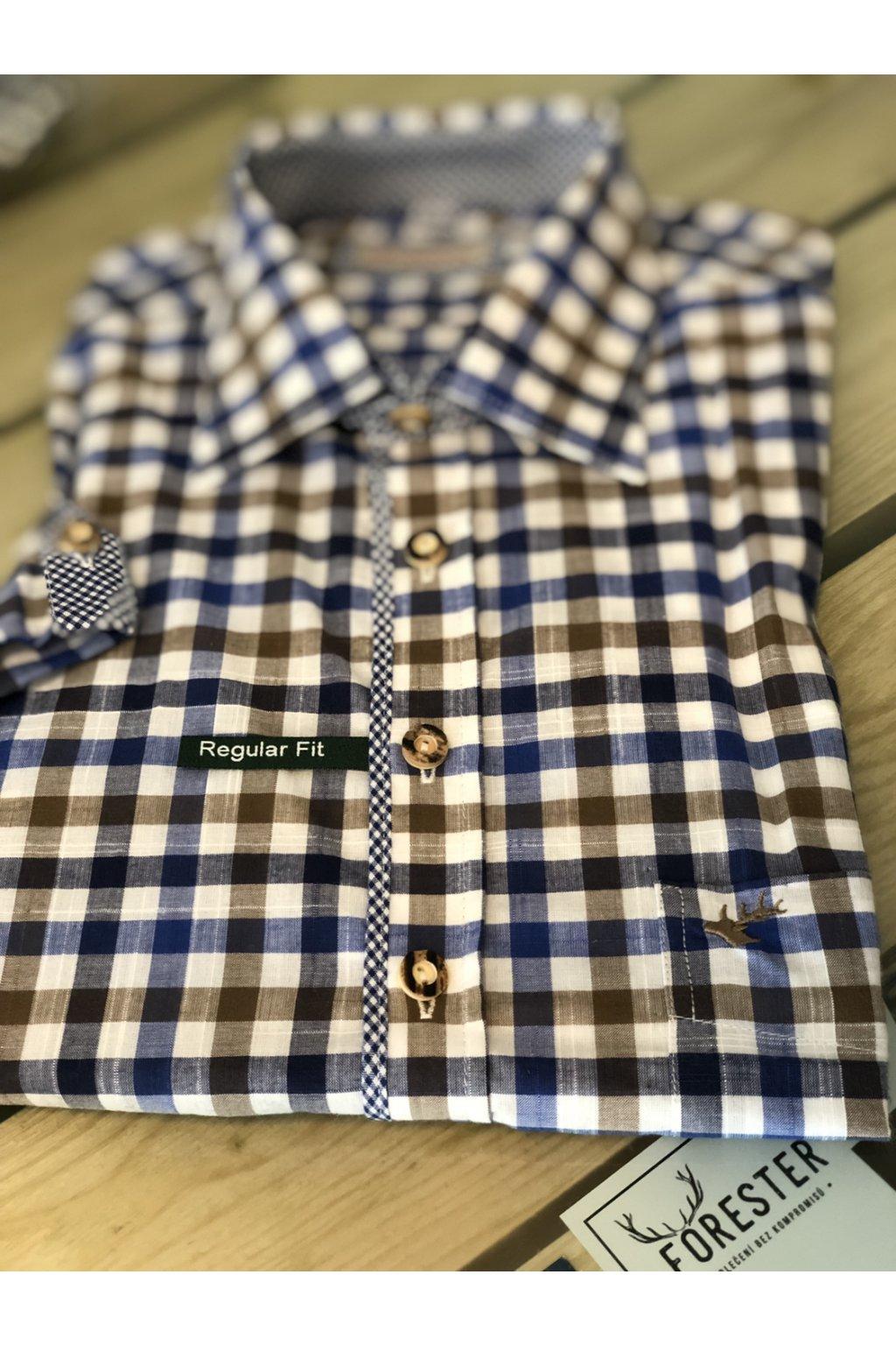 ORBIS - košile pánská letní s krátkým rukávem Regular Fit
