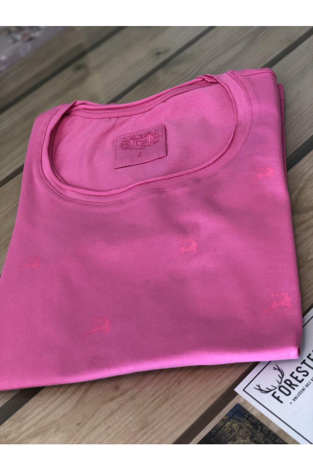 ORBIS - tričko dámské růžové jelen
