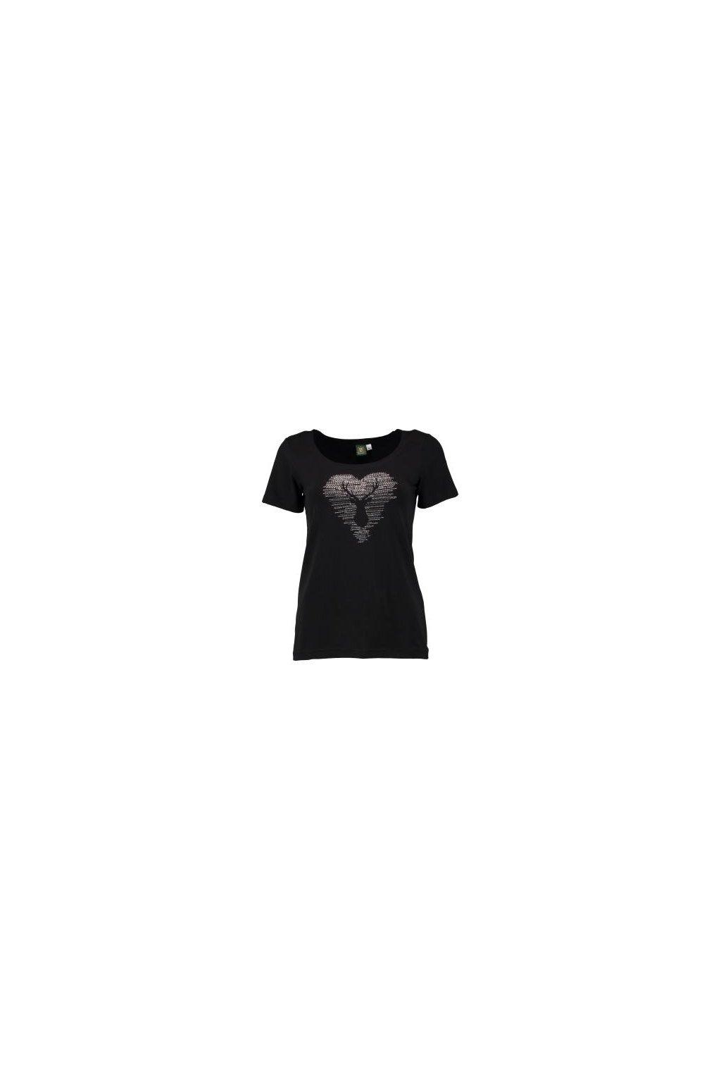 Orbis - tričko dámské černé jelen (2206)