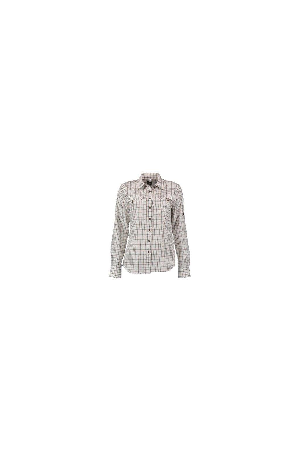ORBIS - košile dámská zkracovací rukáv bílá kostička (3793)