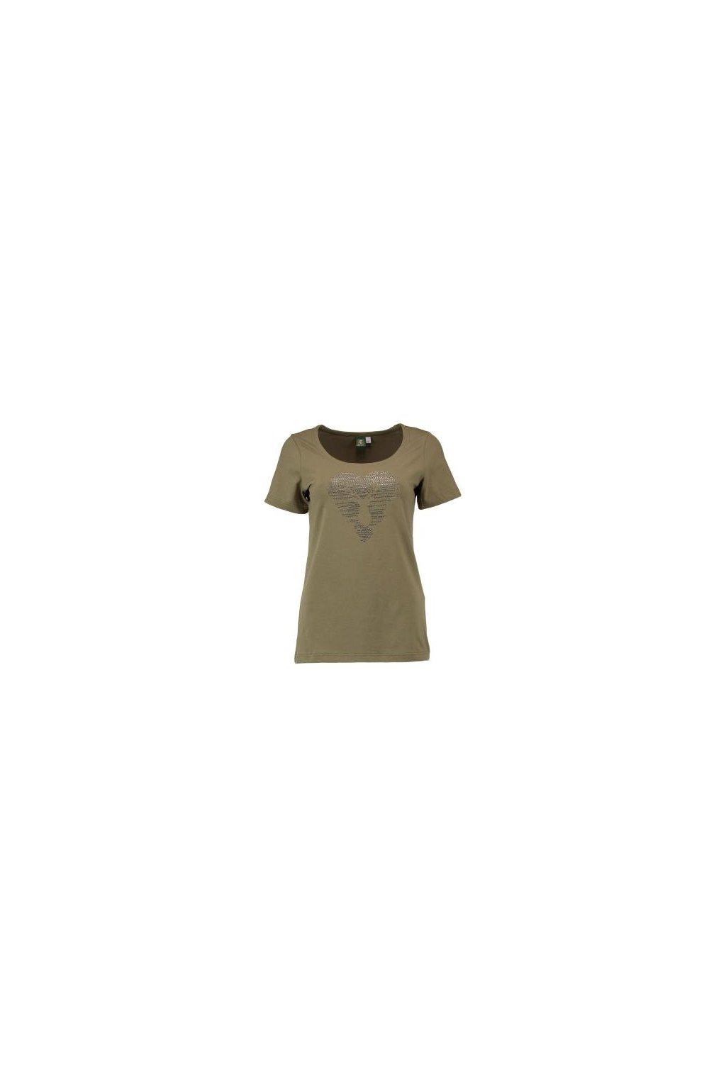 Orbis - tričko dámské oliv jelen 2206
