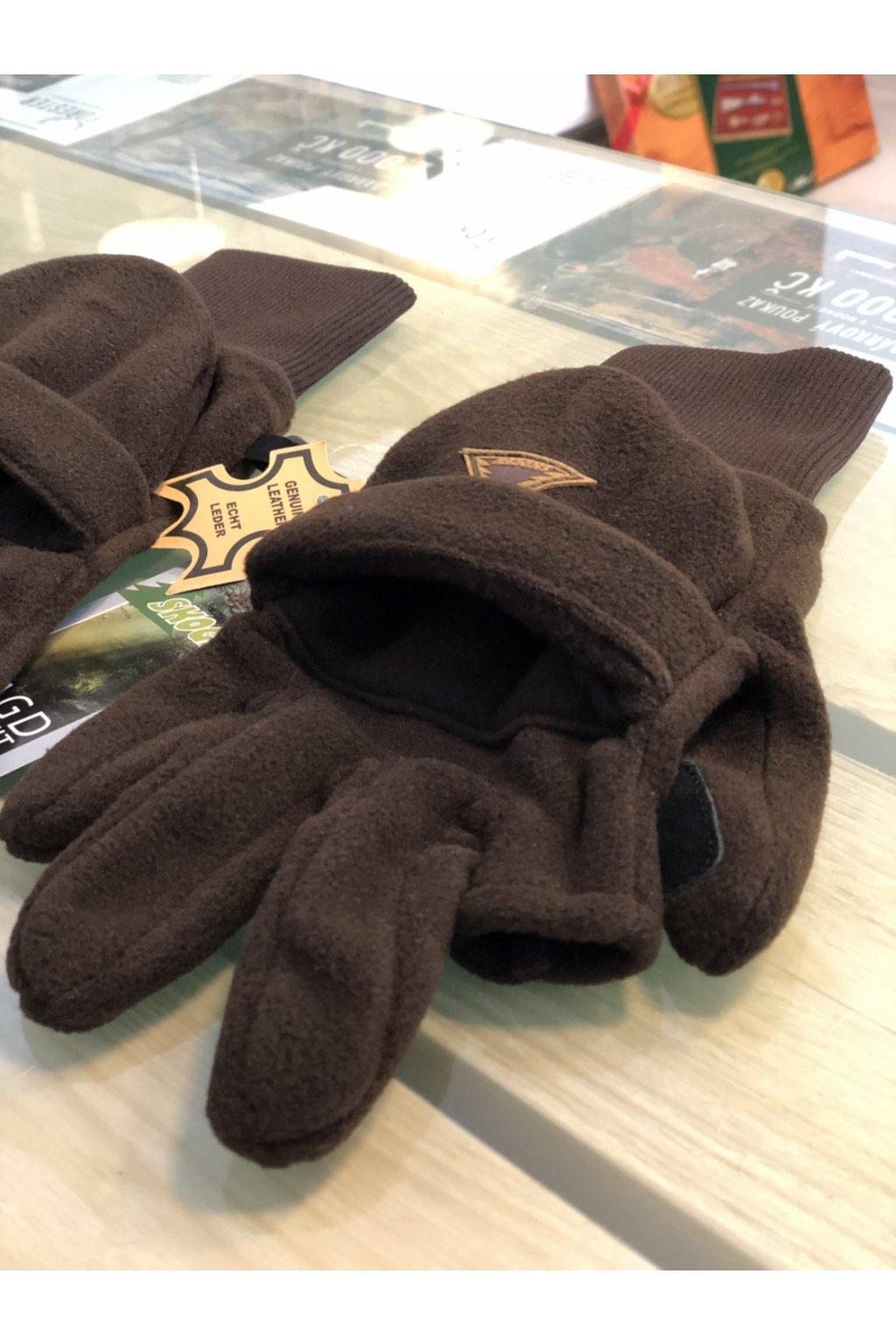 Rukavice fleece s překlopem
