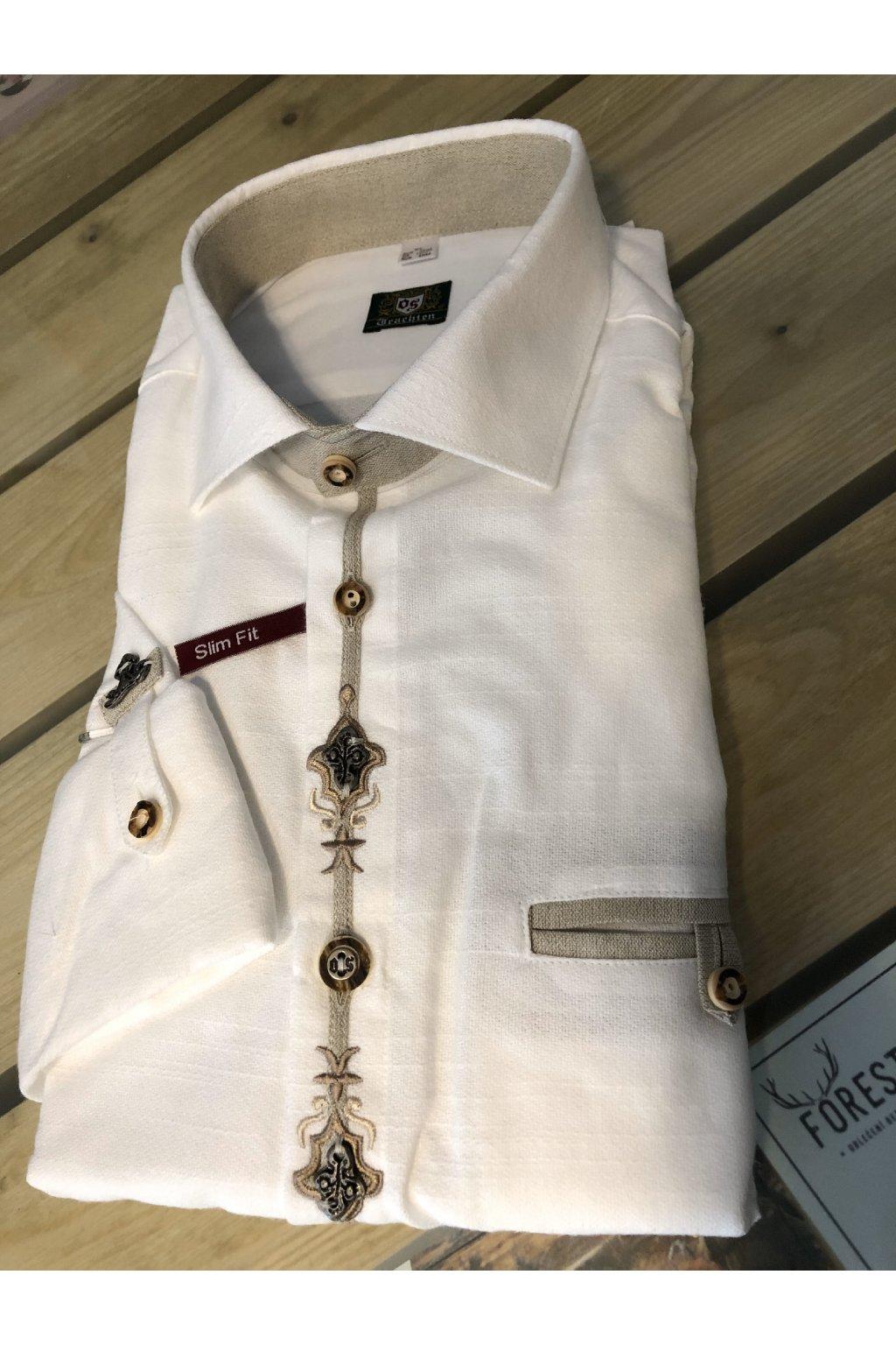 ORBIS - košile pánská Slim Fit bílá (3800)