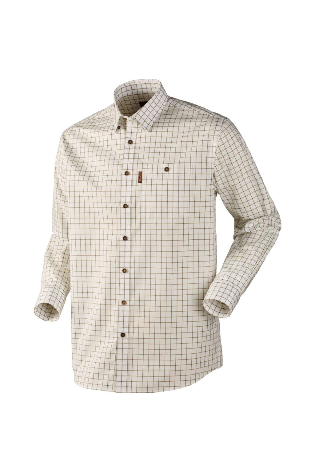 Härkila - Stenstorp skjorte košile s dlouhým rukávem barva oliv/bílá