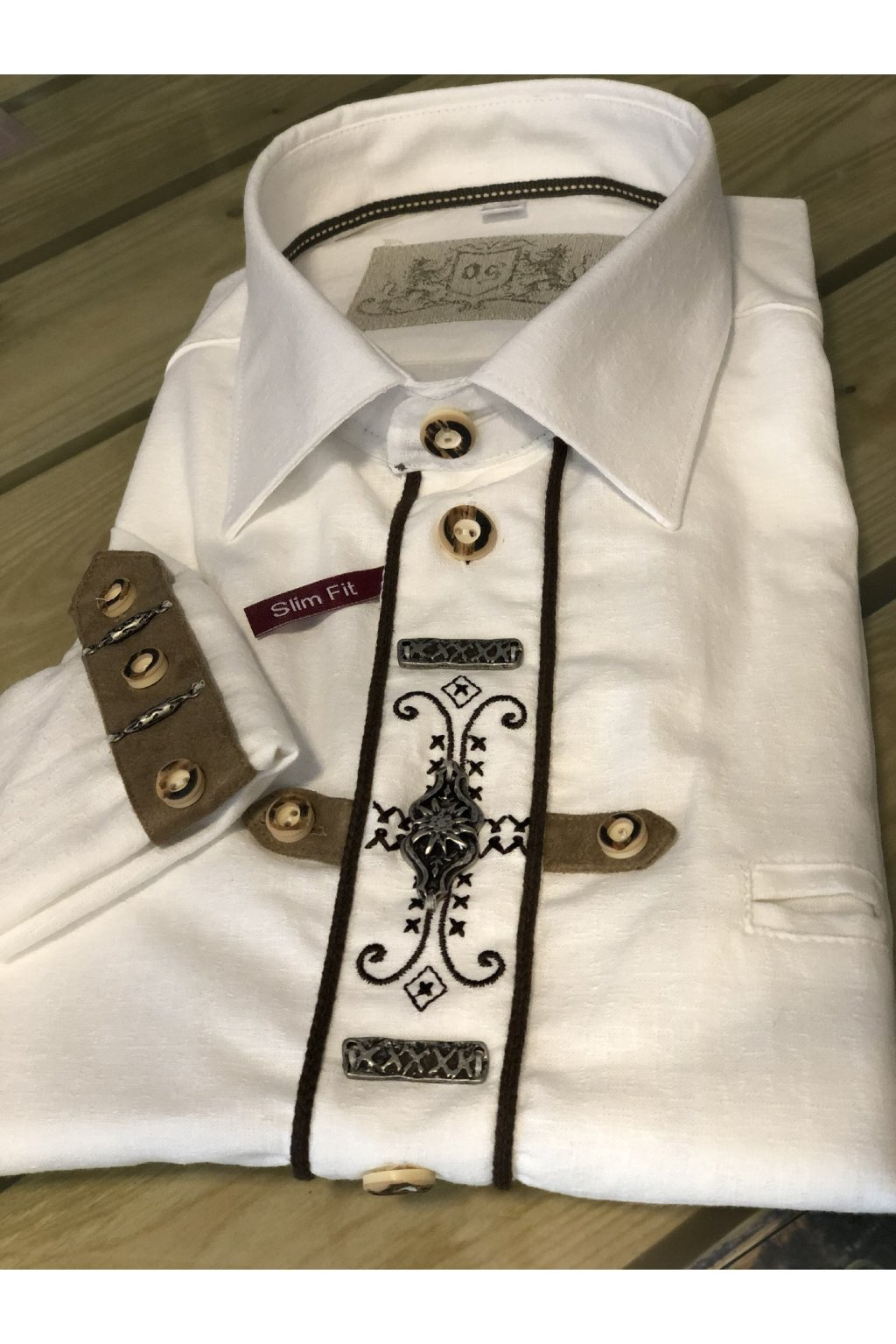 ORBIS - košile pánská bílá Slim Fit (1011)