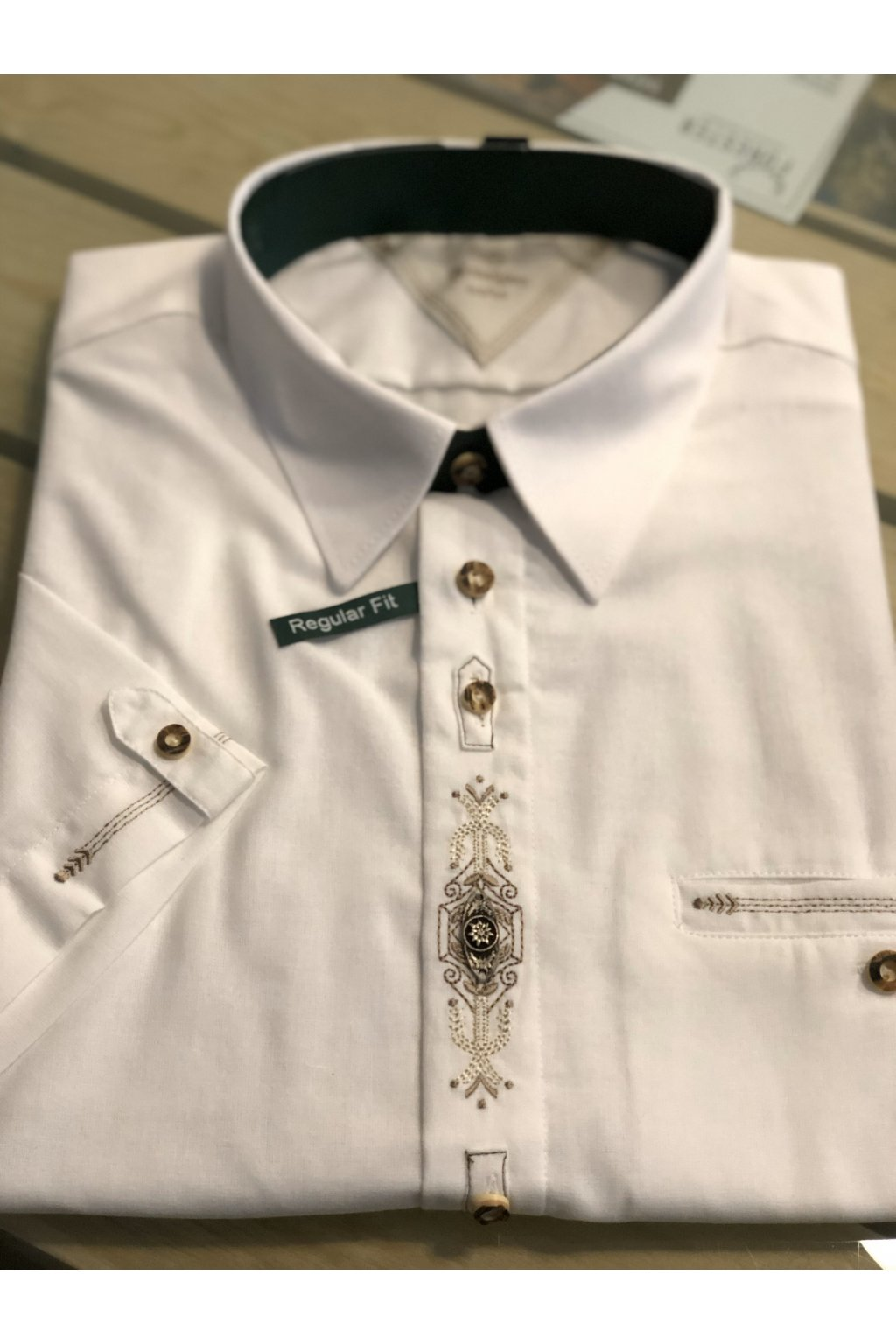 ORBIS - košile pánská bílá s kr. rukávem (1913)