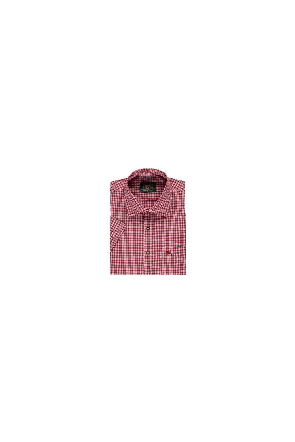 ORBIS - Košile pánská s kr.r. červená (3729)