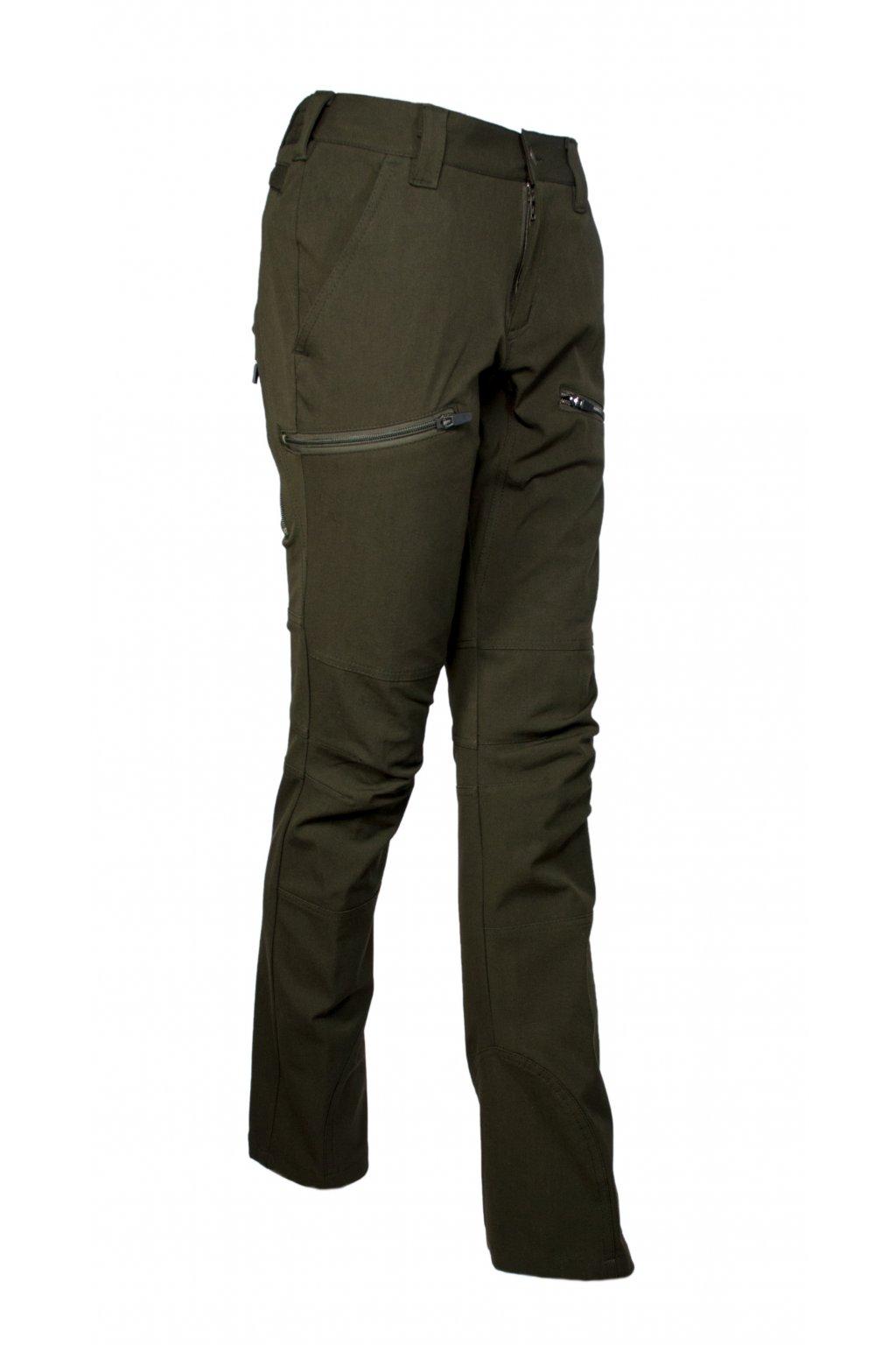 HUBERTUS - kalhoty dámské Stretch zelené