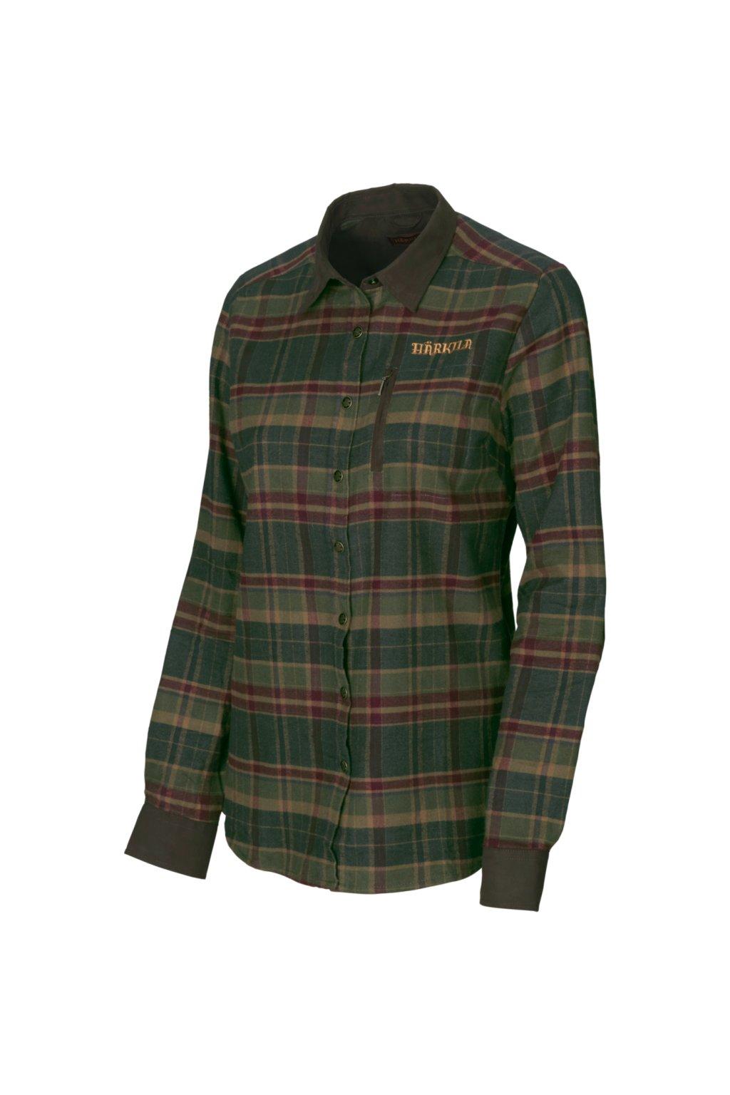 HÄRKILA - Pajala lady košile barva Rosin green check