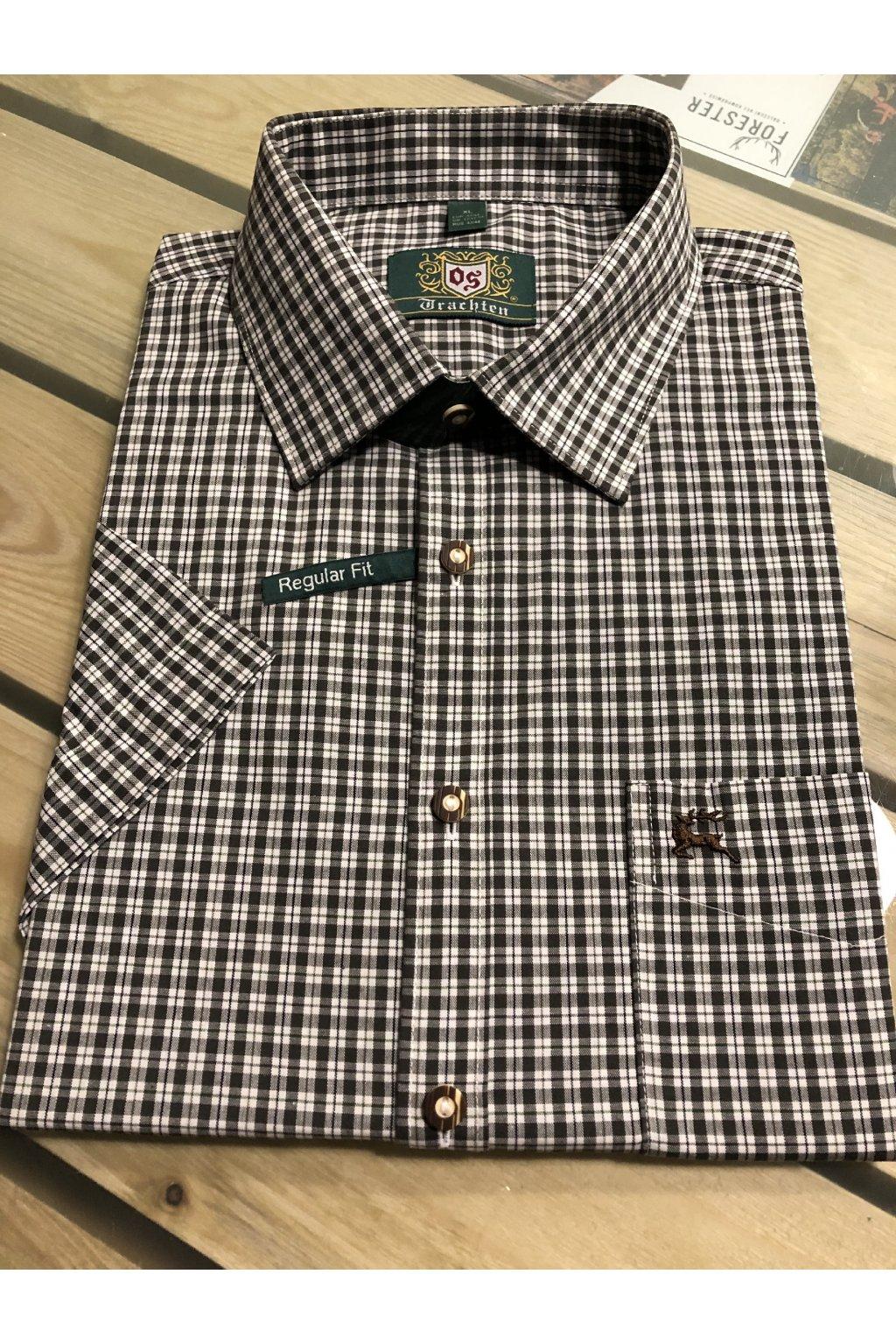 ORBIS - košile pánská s krátkým rukávem (3729) zel.