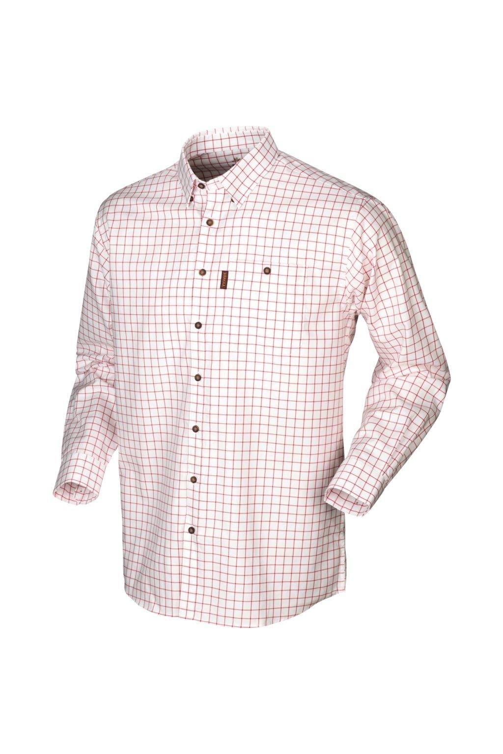 Härkila - Stenstorp skjorte košile s dlouhým rukávem barva Jester red
