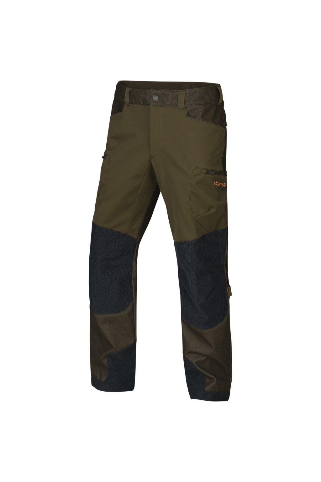 HÄRKILA  - Mountain Hunter Hybrid kalhoty pánské Willow green