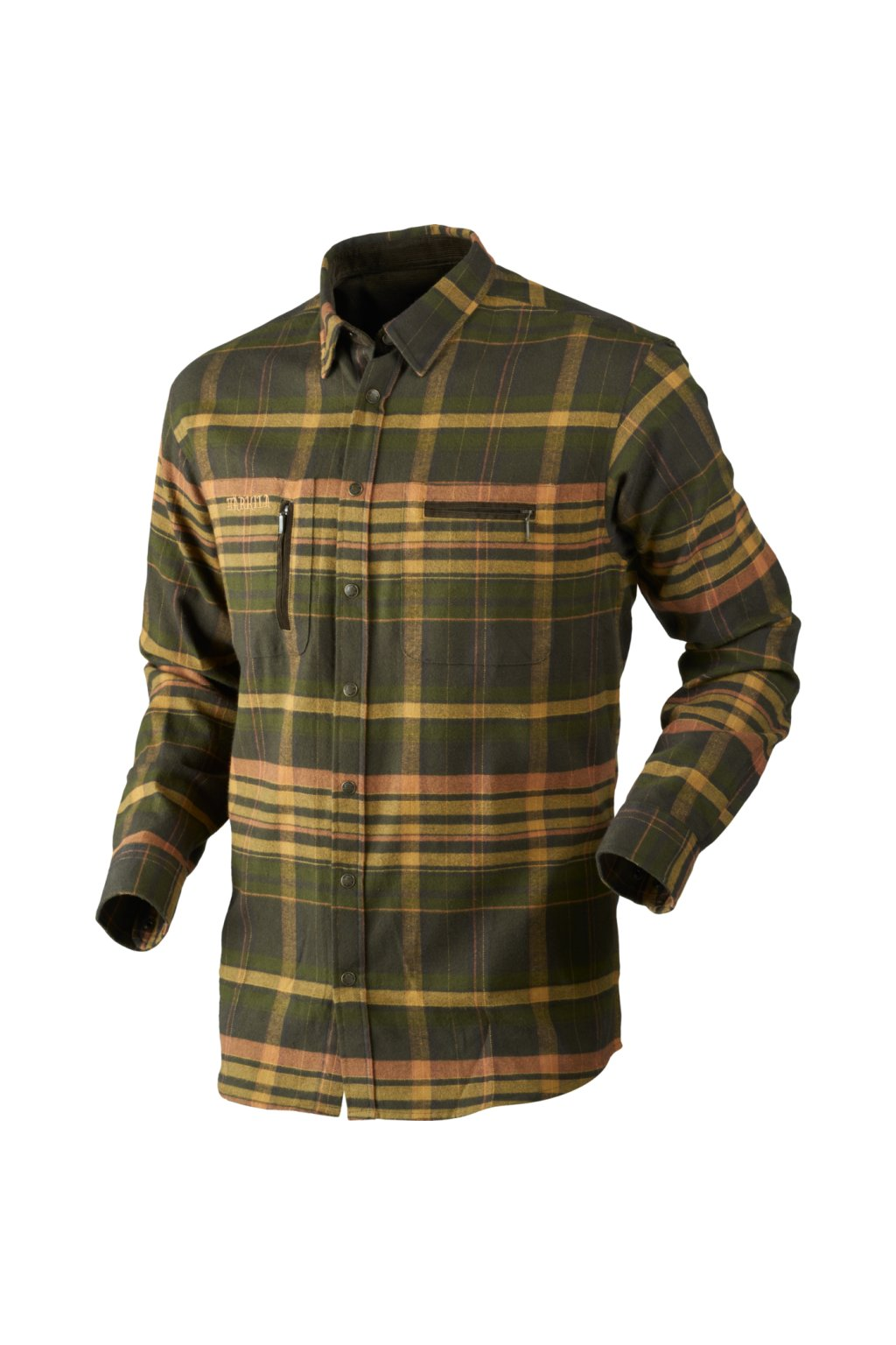 HÄRKILA - Eide košile pánská (Shadow brown check)